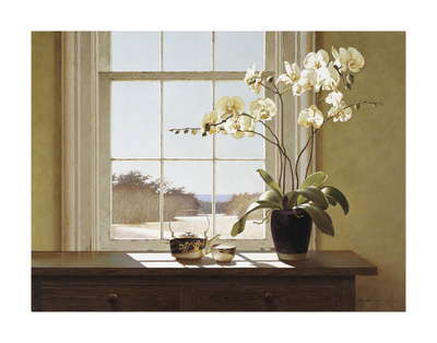 Orchids with Teapots Prints by Zhen-Huan Lu