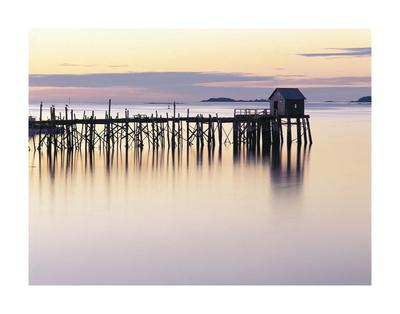 Old Wharf at Dawn Prints by Paul Rezendes