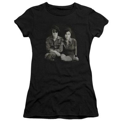 Juniors: John Lennon- With Yoko & Berets T-Shirt