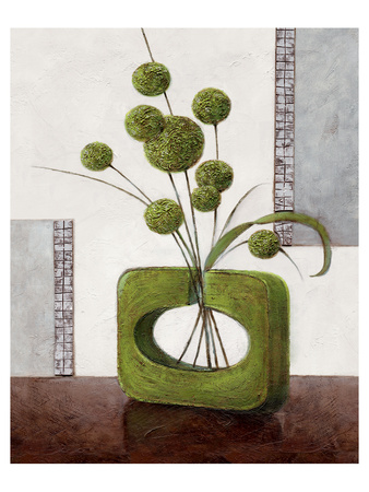 Arrangement in Green II Poster by Karsten Kirchner
