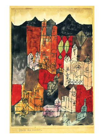 City of Churches 1918 Posters by Paul Klee