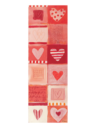 Love Letters in Red Art by Anna Flores