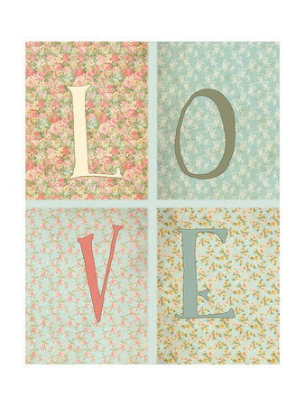 Shabby Chic Love Prints by Tara Moss