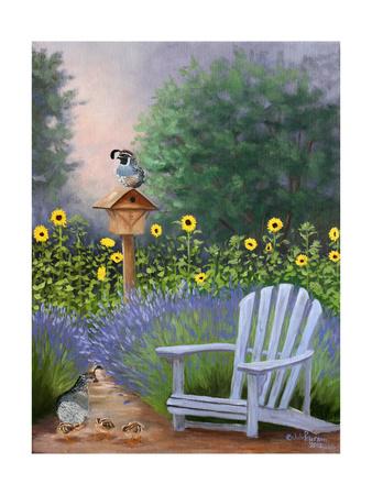Lavender Quail Watch Posters by Julie Peterson