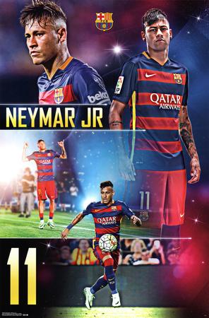 FC Barcelona- Neymar Jr 2015 Prints