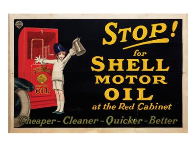 Stop for Shell Motor Oil Prints