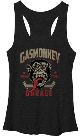 Juniors Tank Top: Gas Monkey- Framed Womens Tank Tops