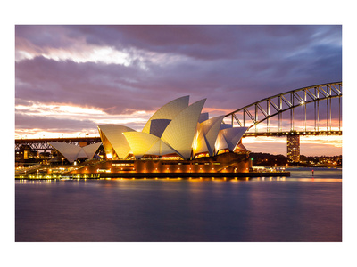 Sydney Opera &Bridge Australia Print
