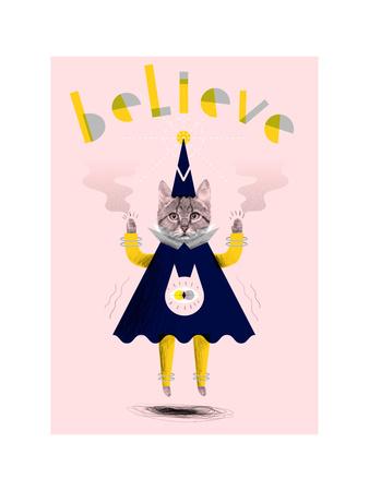 Inspirational Wizard Cat Giclee Print by Jordan Andrew Carter