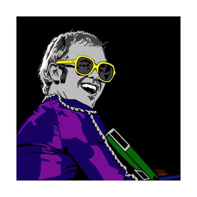Elton John Giclee Print by Emily Gray