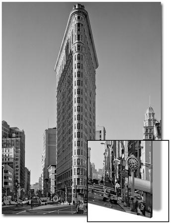 Flat Iron Building Morning - New York City Landmarks Poster by Henri Silberman