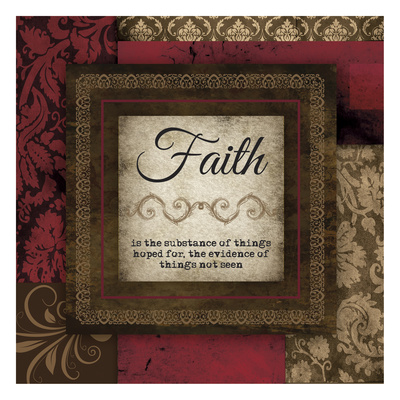 Faith Red Prints by Melody Hogan