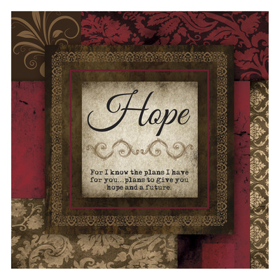 Hope Red Print by Melody Hogan