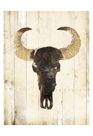 Bull Skull Two Prints by Jace Grey
