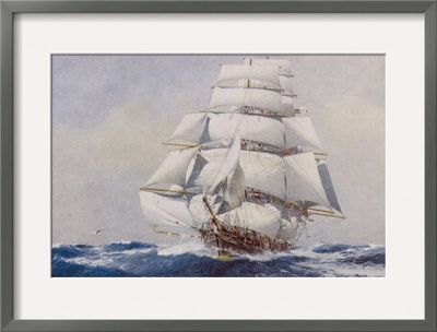 Clipper Under Full Sail Framed Giclee Print by J. Spurling