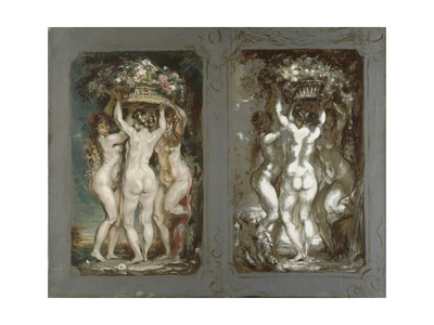 Two Studies for 'The Three Graces' Giclee Print by Louis Anquetin