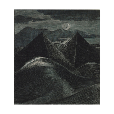 The Pyramids in the Sea Giclee Print by Paul Nash