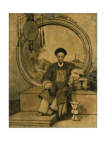 How Qua, Senior Hong Merchant at Canton, China Giclee Print by George Chinnery