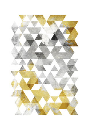 Golden Grey Triangles Mate Posters by  OnRei