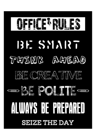 Office Rules 2 Poster by Sheldon Lewis
