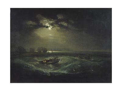 Fishermen at Sea Giclee Print by Joseph Mallord William Turner