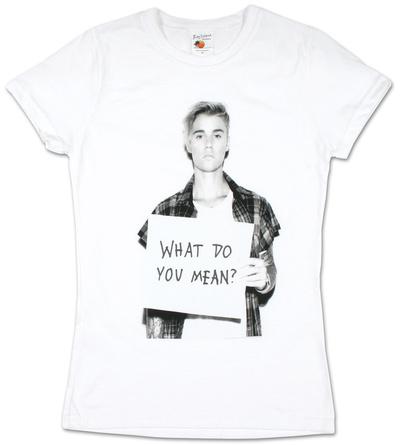 Juniors: Justin Bieber- What Do You Mean T-Shirt