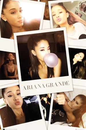 Ariana Grande- Selfies Collage Plakát