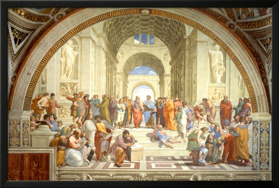 The School of Athens Scuola di Atene by Raphael Poster Art