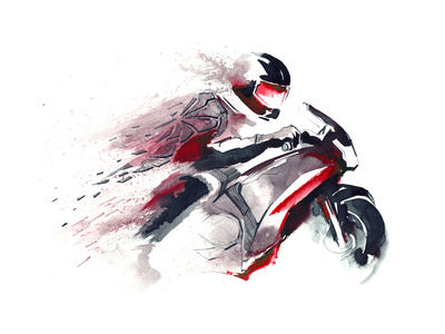 Motorcycle Racer Posters by  okalinichenko