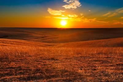 Flint Hills of Kansas Sunset Photographic Print by  tomofbluesprings