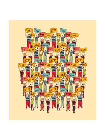 Big Group Casual Happy People Color Posters by  Karrr