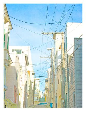 San Francisco Tops4 Print by Mina Teslaru