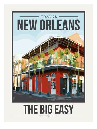 Travel Poster New Orleans Art by Brooke Witt