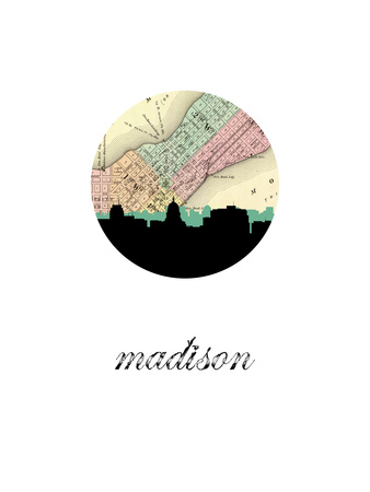 Madison Map Skyline Posters