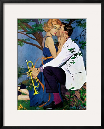 """The Country Treatment - Saturday Evening Post """"Leading Ladies"""", April 11, 1959 pg.29 Framed Giclee Print by Mike Ludlow"""