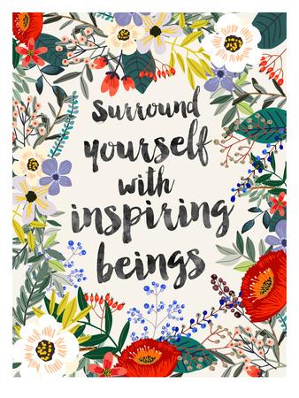 Surround Yourself Poster by Mia Charro