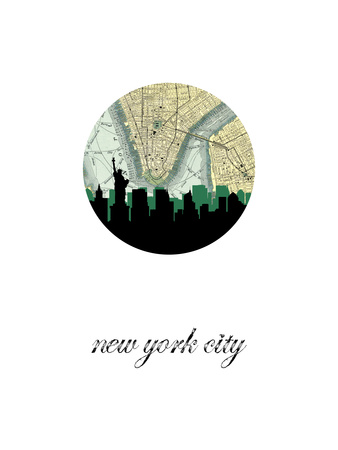 NYC Map Skyline Poster