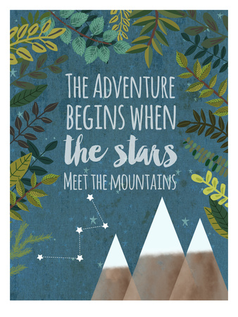 The Adventure Begins Posters by Mia Charro