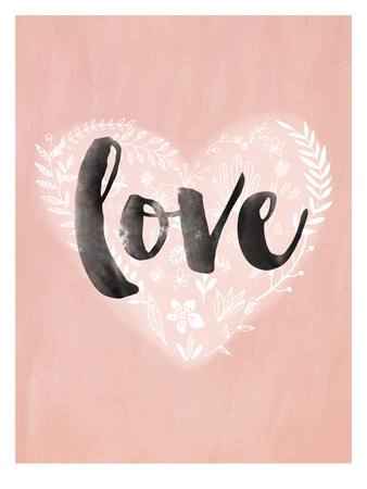 Love Heart Posters by Mia Charro