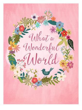 Wonderful World Posters by Mia Charro