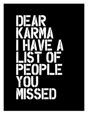 Dear Karma Blk Art by Brett Wilson