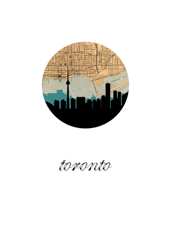 Toronto Map Skyline Prints