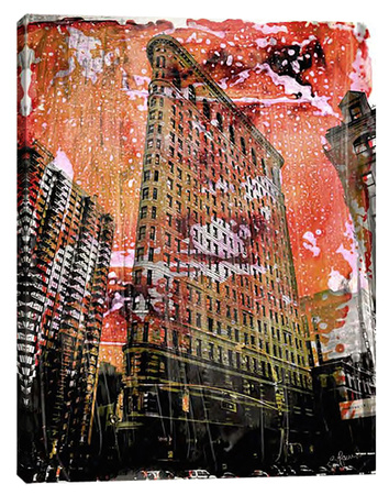 New York Color V Stretched Canvas Print by Sven Pfrommer