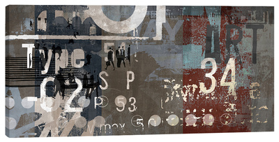 Type Art I Stretched Canvas Print by Sven Pfrommer
