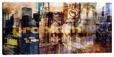 Brooklyn V Stretched Canvas Print by Sven Pfrommer