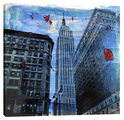 New York Color II Stretched Canvas Print by Sven Pfrommer