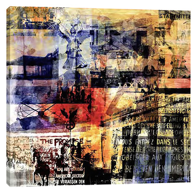 Berlin Edge I Stretched Canvas Print by Sven Pfrommer