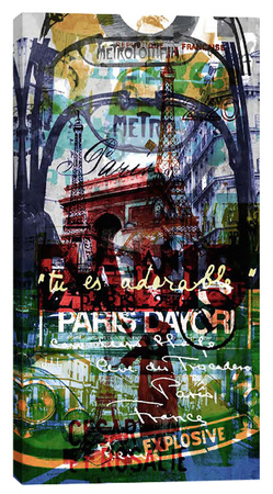 Paris III Stretched Canvas Print by Sven Pfrommer