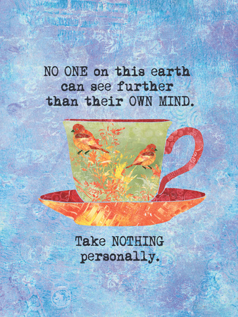 Nothing Personally Bird Cup Print by Bee Sturgis