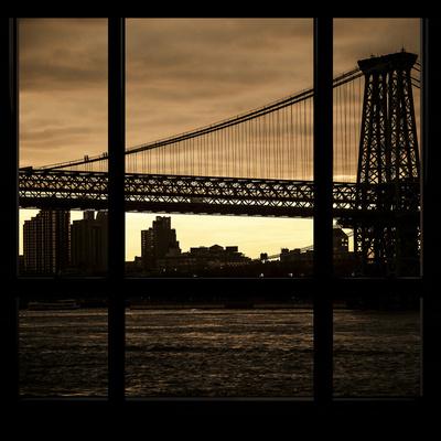 View from the Window - Williamsburg Bridge - New York Photographic Print by Philippe Hugonnard